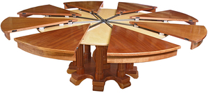 особенности раздвижного круглого стола трансформера преимущества