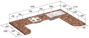 Кухонная столешница размер столешница из дсп 38 мм