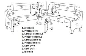 Как самому собрать кухонный уголок - схема