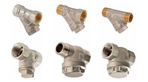 Технические характеристики прямых и косых фильтров грубой очистки для воды