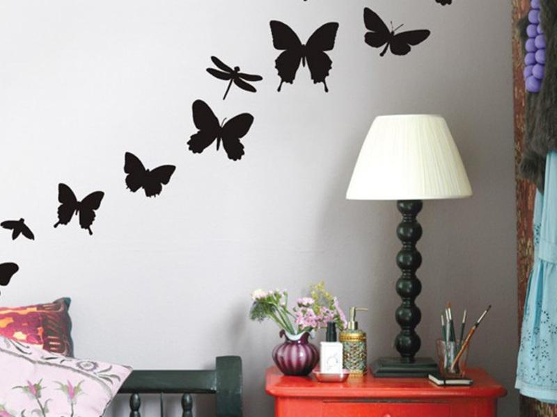Декор стен бабочками фото своими руками