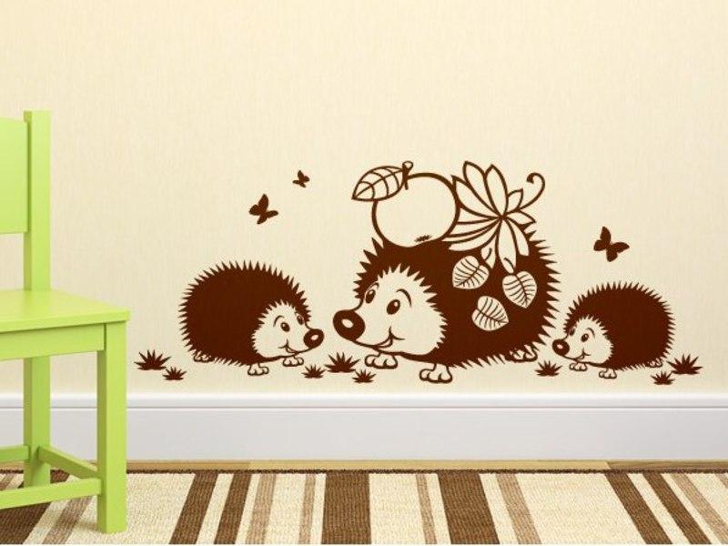 Трафареты для декора стен детского сада