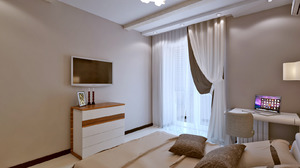 Как выбрать шторы в комнату с балконом