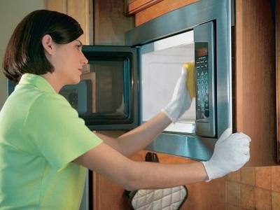 Как отмыть микроволновку Быстро и легко