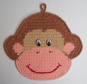 схема вязания прихватки обезьянки крючком пошаговое руководство