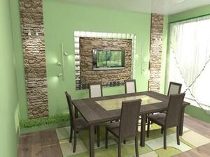 Декоративное оформление стены