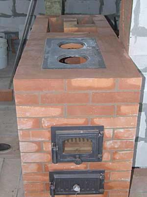Кирпичная простая печь