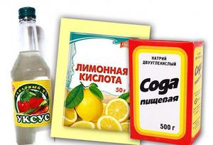 Сода с лимонной кислотой или уксусом, а также соль - традиционные помощники хозяйки на кухне