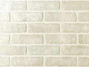 Обои для стен стилизованные под белый кирпич